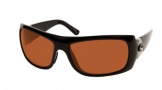Costa Del Mar Bonita Sunglasses Black Frame Sunglasses - Copper Glass / Costa 580