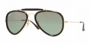 Ray-Ban RB3428 Sunglasses Road Spirit Sunglasses - 001/M4 Shiny Gold / Crystal Pol. Green Silver Mirror