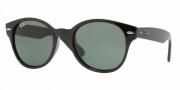 Ray-Ban RB4141 Sunglasses Round Wayfarer Sunglasses - 601 Black / Crystal Green
