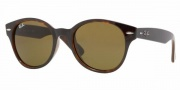 Ray-Ban RB4141 Sunglasses Round Wayfarer Sunglasses - 771 Dark Havana / Crystal Brown