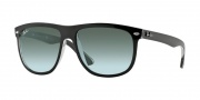 Ray Ban 4147 Sunglasses Sunglasses - 603971 Top Black on Transparent / Grey Gradient Azure