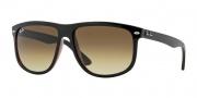 Ray Ban 4147 Sunglasses Sunglasses - 609585 Top Black on Brown / Brown Gradient Dark Brown