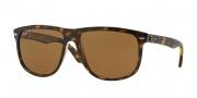 Ray Ban 4147 Sunglasses Sunglasses - 710/57 Light Havana / Crystal Brown Polarized