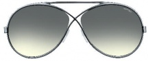 Tom Ford FT0154 Georgette Sunglasses Sunglasses - O12B Shiny Dark Ruthenium