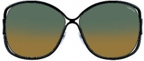 Tom Ford FT0155 Sunglasses Sunglasses - O01P Shiny Black