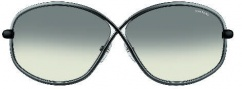 Tom Ford FT0160 Brigitte Sunglasses Sunglasses - O08B Shiny Gunmetal