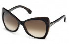 Tom Ford FT0175 Nico Sunglasses Sunglasses - 05E Black / Brown