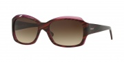 DKNY DY4048 Sunglasses Sunglasses - (342413) Striped Brown-Violet / Brown Gradient