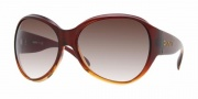 DKNY DY4053 Sunglasses Sunglasses - (332213) Brown Gradient-Amber / Brown Gradient
