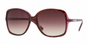 DKNY DY4058 Sunglasses Sunglasses - (342413) Striped Brown-Violet / Brown Gradient