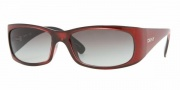 DKNY DY4065 Sunglasses Sunglasses - (343211) Metalic Red-Black / Gray Gradient