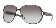 DKNY DY5056 Sunglasses Sunglasses - (111111) Black / Gray Gradient