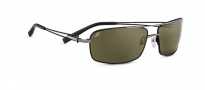 Serengeti Dante Sunglasses Sunglasses - 7115 Shiny Gun Black Tannery / Polarized 555nm