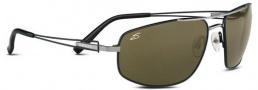 Serengeti Augusto Sunglasses Sunglasses - 7225 Shiny Gunmetal-Blak Tannery / Polarized 555nm