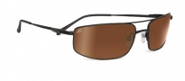 Serengeti Lamone Sunglasses Sunglasses - 7709 Satin Black / Drivers Gold Polarized