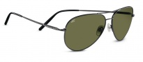 Serengeti Medium Aviator Sunglasses Sunglasses - 7190 Shiny Gunmetal 555nm Polarized
