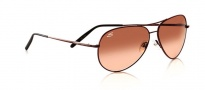 Serengeti Medium Aviator Sunglasses Sunglasses - 6826 Henna / Drivers Brown Gradient