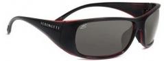 Serengeti Larino Sunglasses Sunglasses - 7391 Shiny Black-Red / Polar PhD CPG