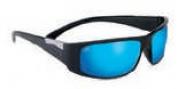 Serengeti Fasano Sunglasses Sunglasses - 8219 Shiny Black / Polarized Blue