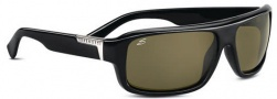 Serngeti Matteo Sunglasses Sunglasses - 7369 Shiny Black / Polarized 555nm