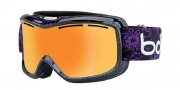 Bolle Monarch Goggles Goggles - 21130 Black and Purple Flower / Amber Gun