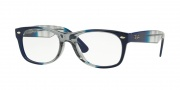 Ray-Ban RX 5184 New Wayfarer Eyeglasses Eyeglasses - 5516 Gradient Grey on Blue