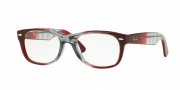 Ray-Ban RX 5184 New Wayfarer Eyeglasses Eyeglasses - 5517 Gradient Grey on Bordeaux