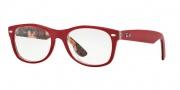 Ray-Ban RX 5184 New Wayfarer Eyeglasses Eyeglasses - 5406 Top Matte Red