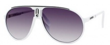 Carrera Champion/L/S Sunglasses Sunglasses - 0CCP White Black / JJ Gray Shaded Lens