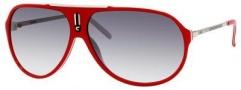 Carrera Hot/S Sunglasses Sunglasses - 06DC Red White-Palladium / 7V Gray Gradient Lens