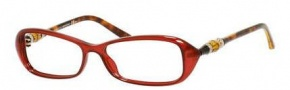 Gucci GG 3147 Eyeglasses Eyeglasses - 0Z0H Opal Red Havana