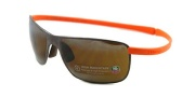 Tag Heuer Curves 5023 Sunglasses Sunglasses - 804 Chocolate Ceramic / Orange Temple / Hight Mountain Lenses