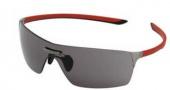 Tag Heuer Squadra 5501 Sunglasses Sunglasses - 101 Red-Black Temples /  Dark Lug / Grey Lenses