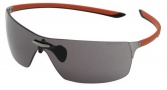 Tag Heuer Squadra 5502 Sunglasses Sunglasses - 101 Red-Black Temples /  Dark Lug / Grey Lenses