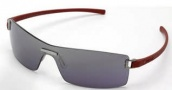 Tag Heuer Club 7506 Sunglasses Sunglasses - 106 Dark Red Temples / Brushed Ruthenium Frame Front / Grey Lenses