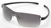 Tag Heuer Club 7508 Sunglasses Sunglasses - 108 Dark Grey Temples / Brushed Ruthenium Frame Front / Gradient Grey Lenses