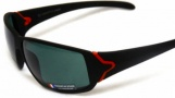 Tag Heuer Racer 9203 Sunglasses Sunglasses - 321 Black - Red Temples /  Green Precision Lens