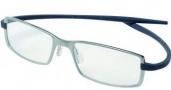 Tag Heuer Reflex Neo 3704 Eyeglasses Eyeglasses - 005 Chromium Front / Blue-Grey Temples