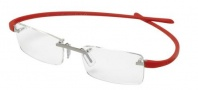 Tag Heuer Reflex 3101 Eyeglasses Eyeglasses - 005 Titanium Front / Red Temples