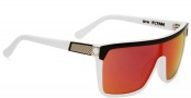 Spy Optic Flynn Sunglasses Sunglasses - Black / White / Grey with Red Spectra