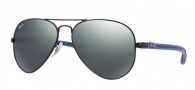 Ray-Ban RB8307 Sunglasses Sunglasses - 006/40 Matte Black on Blue / Crystal Grey