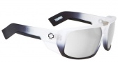 Spy Optic Touring Sunglasses Sunglasses - White Lightening / Grey with Silver Mirror