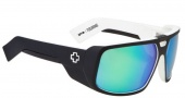Spy Optic Touring Sunglasses Sunglasses - Matte Black / White / Grey with Green Spectra