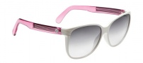 Spy Optic Clarice Sunglasses Sunglasses - White with Pop Pink / Black Fade Lens