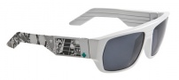 Spy Optic Blok Sunglasses Sunglasses - Black with White 80's / Bronze with Red Spectra
