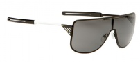 Spy Optic Yoko Sunglasses Sunglasses - Matte Black with White Temples / Grey