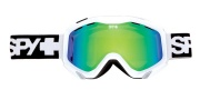 Spy Optic Zed Goggles - Spectra Lenses Goggles - White / Bronze with Green Spectra