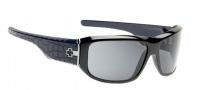 Spy Optic Lacrosse Sunglasses Sunglasses - Black with Dark Navy Lasered Temples / Grey