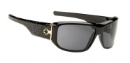Spy Optic Lacrosse Sunglasses Sunglasses - Black with White texture on Temples / Grey Lens