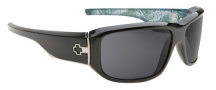 Spy Optic Lacrosse Sunglasses Sunglasses - Black with Paisley / Grey